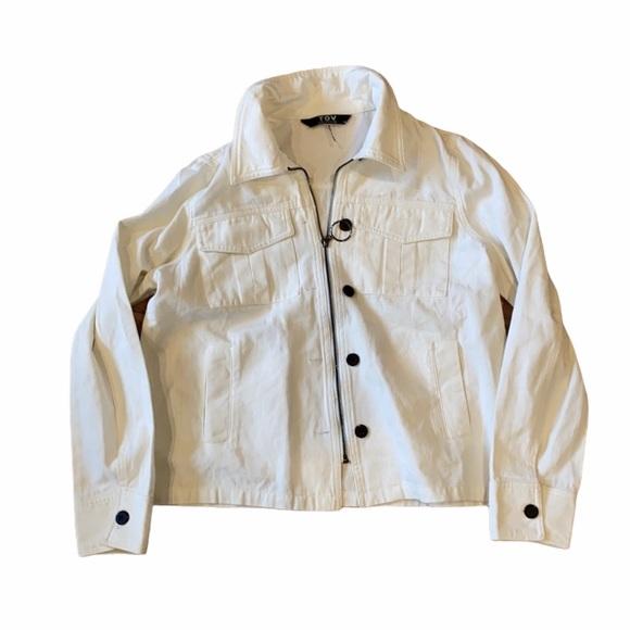 ❤️ 100% cotton white tov Los Angeles spring coat